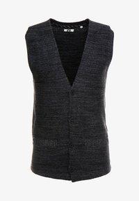 STRUCTURED  - Waistcoat - grey heather