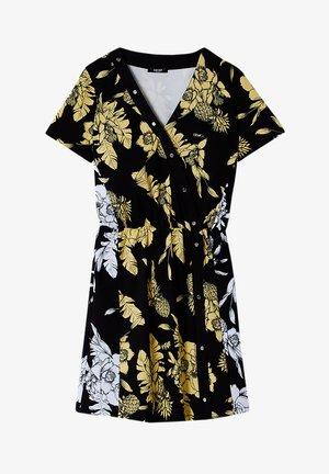 Sukienka koszulowa - black/yellow