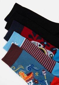 Jack & Jones - JACMEXICO STRIP SOCK 5 PACK - Chaussettes - black/red/blue - 1
