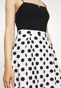 Even&Odd - A-line skirt - off-white/black - 4