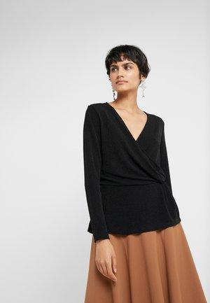 RIBA JENNA BLOUSE - Long sleeved top - black/silver