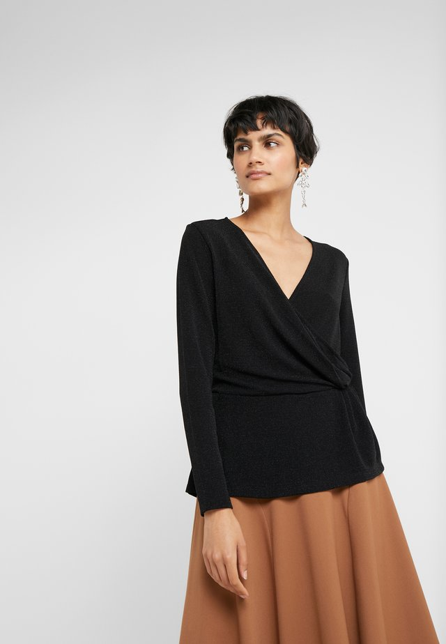 RIBA JENNA BLOUSE - Long sleeved top - black/silver