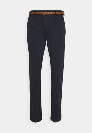 Chinos - dark navy/white