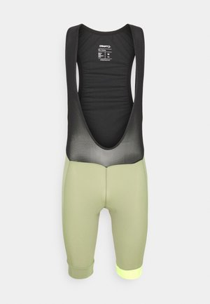 CORE ENDUR BIB SHORTS - Leggings - forest/flumino