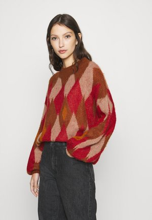 VIPOCO GRAPHIC - Jumper - jester red/natural melange/turtle shell