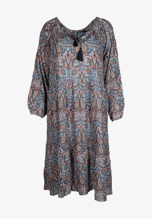 Shirt dress - grau/blau