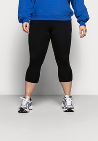 Even&Odd Curvy - CROPPED - Leggings - Trousers - black - 2