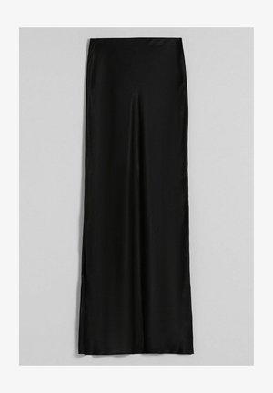 MIT SEITLICHEN  - Maxi skirt - black