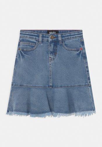 BARBRO - Mini skirt - stone blue