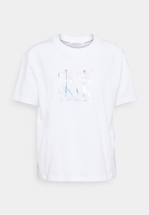 SHINE LOGO TEE - Print T-shirt - bright white