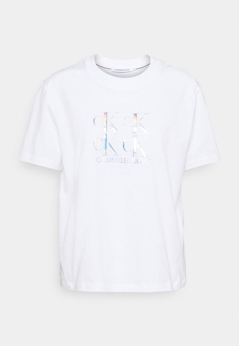 Calvin Klein Jeans - SHINE LOGO TEE - Print T-shirt - bright white