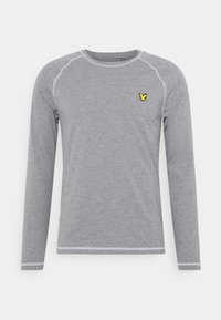 CONTRAST SEAMS BASELAYER - Long sleeved top - mid grey marl