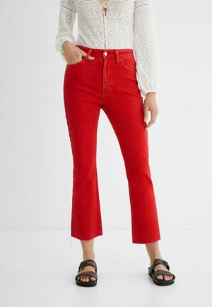 FLARED  - Flared Jeans - red
