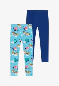 Walkiddy - FUNNY BUTTERFLIES 2 PACK - Leggings - Trousers - turquoise/dark blue - 3