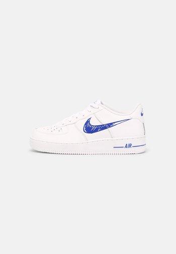 AIR FORCE 1 GS UNISEX - Baskets basses - white/racer blue/white