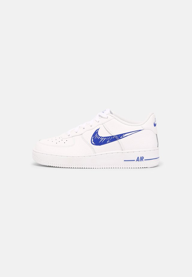 AIR FORCE 1 GS UNISEX - Sneakers laag - white/racer blue/white