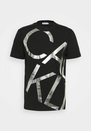 GOLD BIG - T-shirt med print - black/silver