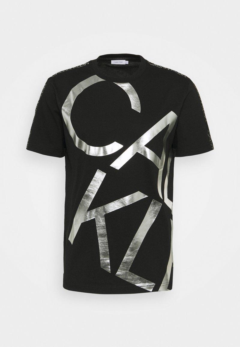 Calvin Klein - GOLD BIG - T-shirt con stampa - black/silver