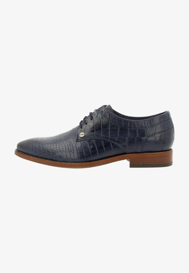 BRAD CROCO - Smart lace-ups - blue