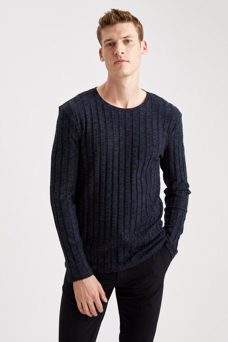 DeFacto - Stickad tröja - indigo
