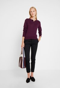 GAP - CREW CARDI - Strikjakke /Cardigans - plum/heather - 1