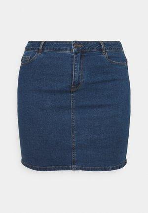 VMHOT SKIRT - Mini skirt - medium blue denim