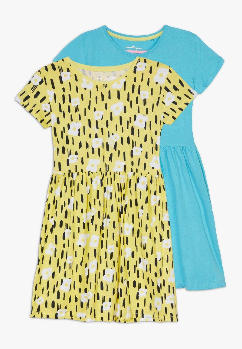 Lemon Beret - SMALL GIRLS DRESS 2 PACK - Žerzejové šaty - bachelor button