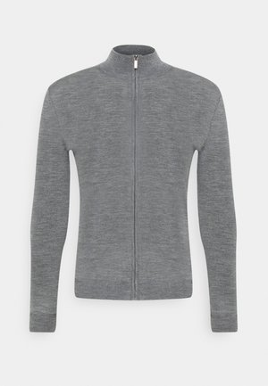 MERINO ZIP SWEATER - Cardigan - grey