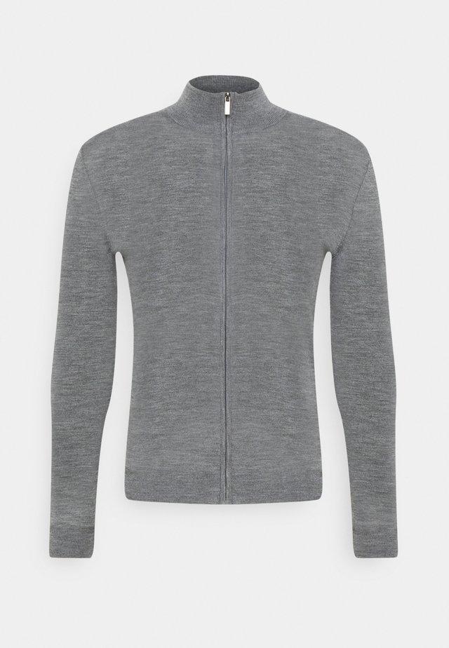 MERINO ZIP SWEATER - Cardigan - grey