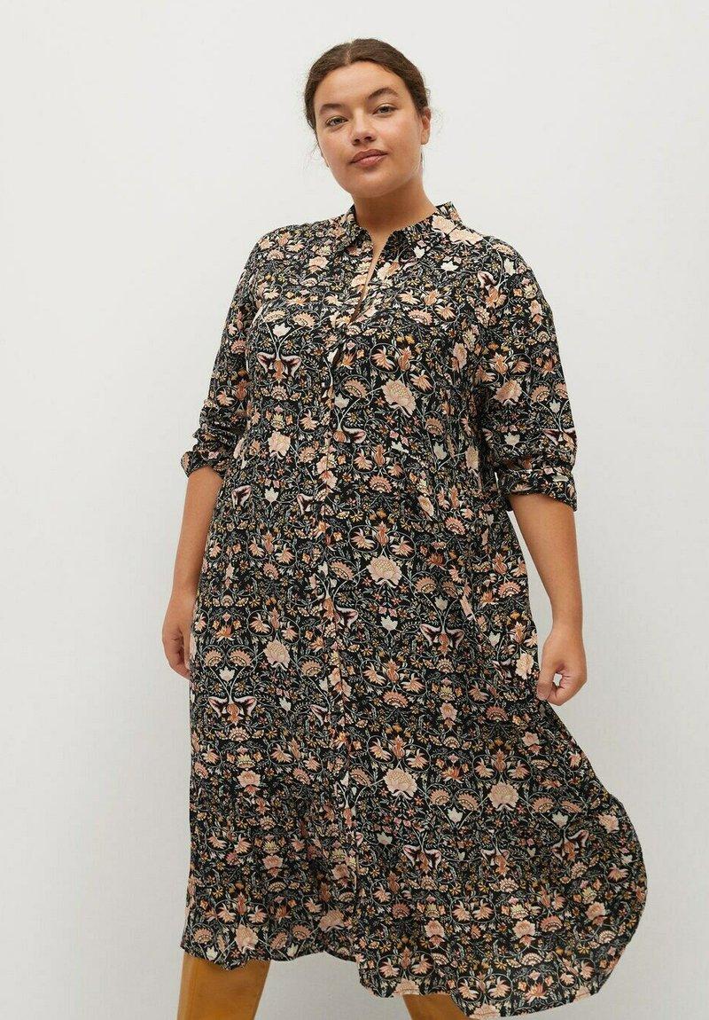 Violeta by Mango - NATALIA - Shirt dress - schwarz