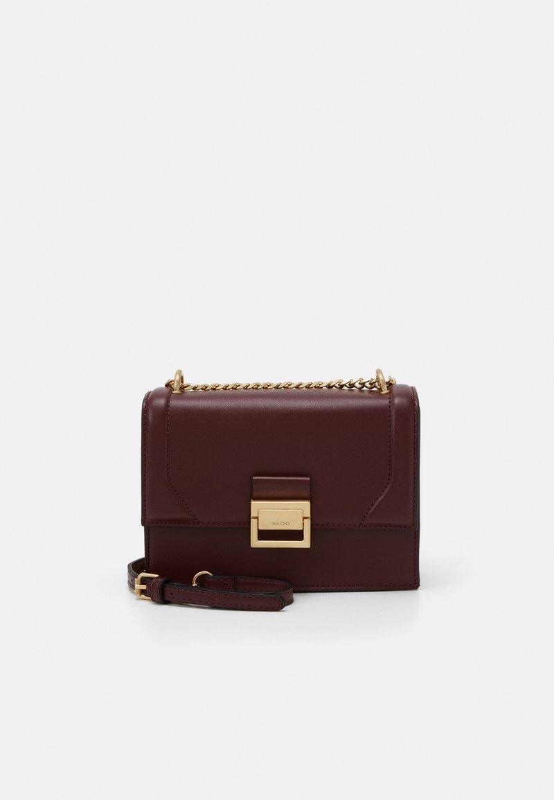 ALDO - PENTZIA - Across body bag - bordo/gold-coloured