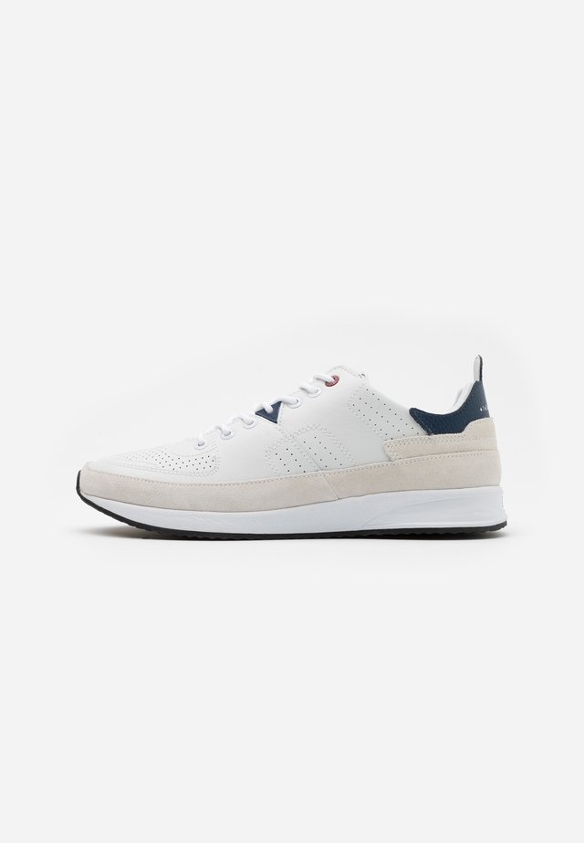 ZONE - Sneaker low - white/blue/black