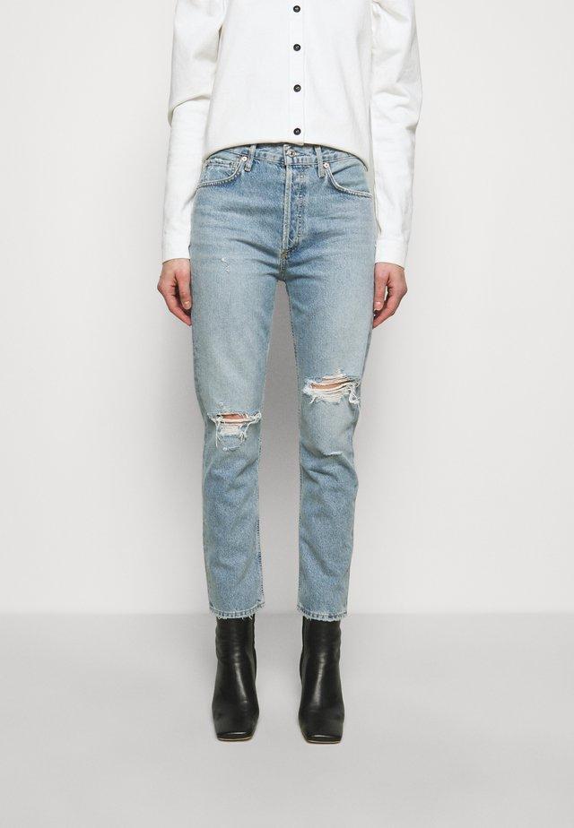 CHARLOTTE - Jeans Straight Leg - moondust