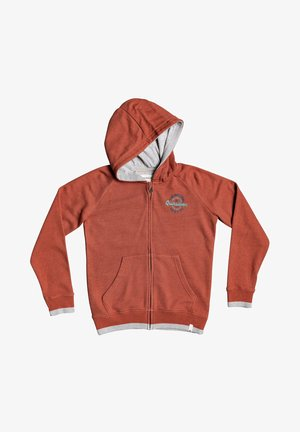 MOTORCYCLE EMPTINESS - Zip-up hoodie - redwood heather