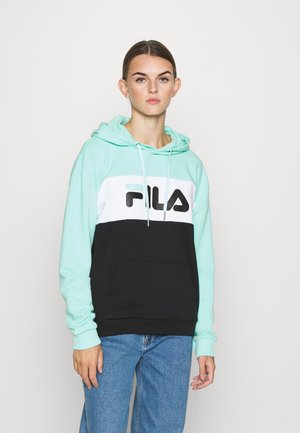 LORI HOODIE - Felpa con cappuccio - black/beach glass/bright white