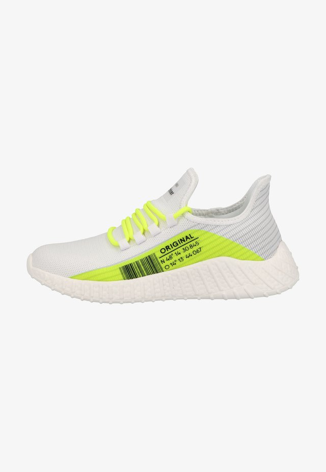 Sneakers laag - weiss akz neon yellow