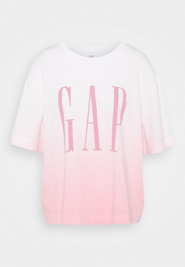 GAP BOXY TEE - Print T-shirt - pink ombre