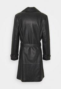 STUDIO ID - CHRISTIAN LEATHER COAT - Leather jacket - black - 6