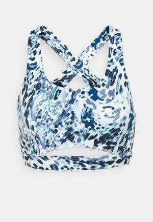 TURN THE TIDE CROP - Light support sports bra - blue