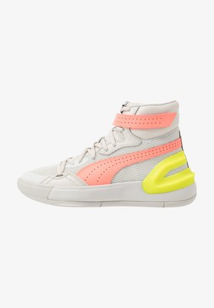 SKY MODERN  - Basketball shoes - white /neon