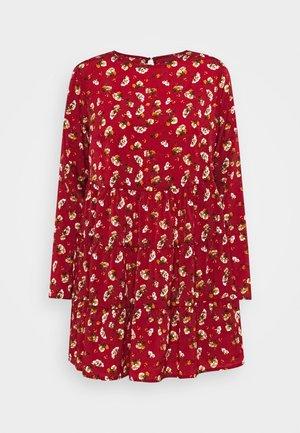 LONG SLEEVE SMOCK DRESS - Kjole - brick