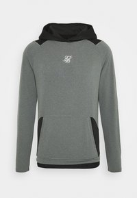 SIKSILK - ENDURANCE OVERHEAD HOODIE - Maglietta a manica lunga - grey/black - 3