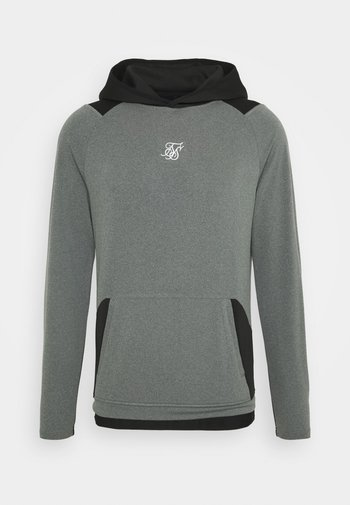 ENDURANCE OVERHEAD HOODIE - Long sleeved top - grey/black