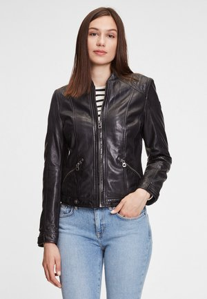 GGMIJA LAFLOV - Leather jacket - black