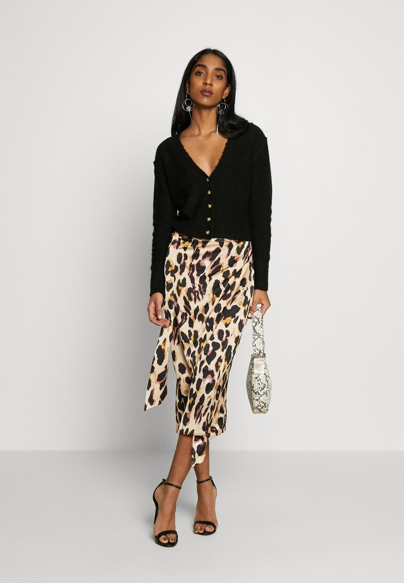 Never Fully Dressed JASPRE DITSY PRINT SKIRT - Wickelrock - brown/braun GoWjwr