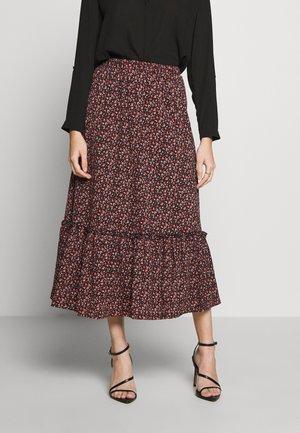 ONLPELLA SKIRT - Pleated skirt - black/route