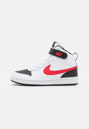 COURT BOROUGH MID UNISEX - Vysoké tenisky - white/university red/black