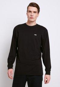 Vans - LEFT CHEST HIT - Long sleeved top - black/white - 0