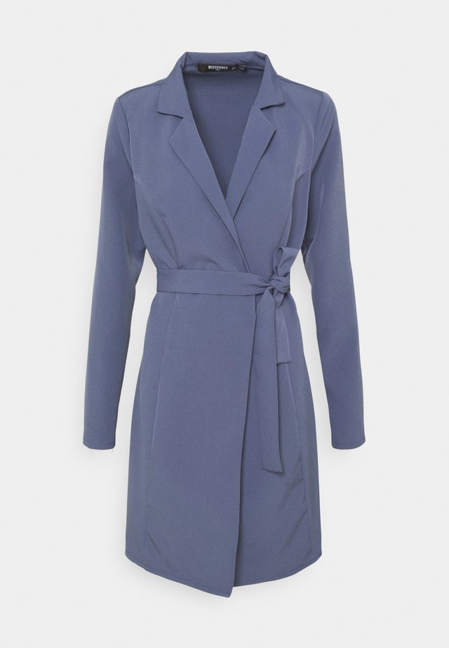 BASIC WRAP BLAZER DRESS - Denní šaty - blue