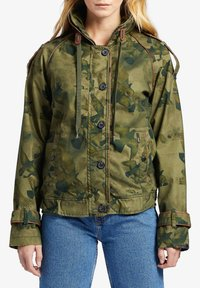 khujo - STACEY - Light jacket - khaki gemustert - 3
